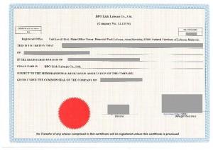 BPO LINK - Share Certificate