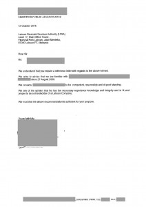 CPA Reference Letter