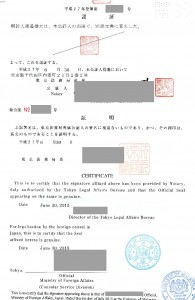Passport Certification(JAPAN)