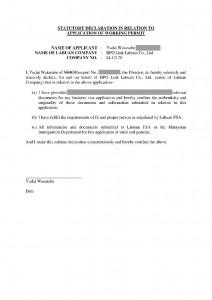 Statutory Declaration